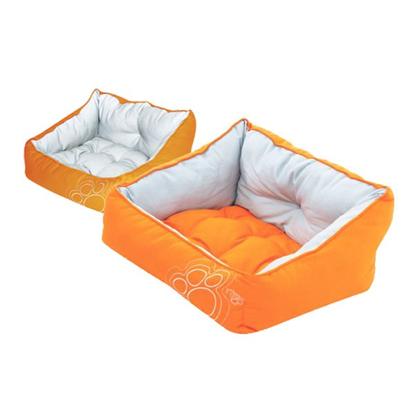 Cama de Rogz modelo LUNA de color naranja para perro pequeño Girona