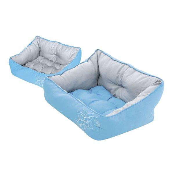 Cama de Rogz modelo LUNA de color azul para perro pequeño Girona